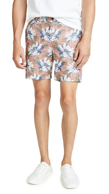 Club Monaco Baxter Hatch Floral Print Shorts