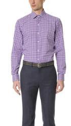 Culturata Point Collar Gingham Shirt