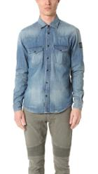 Belstaff Someford Washed Denim Shirt