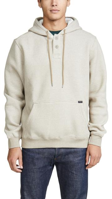 Rvca Vista Two Button Pullover Hoodie
