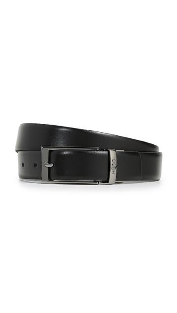 Hugo Gilvin Reversible Embossed Leather Belt