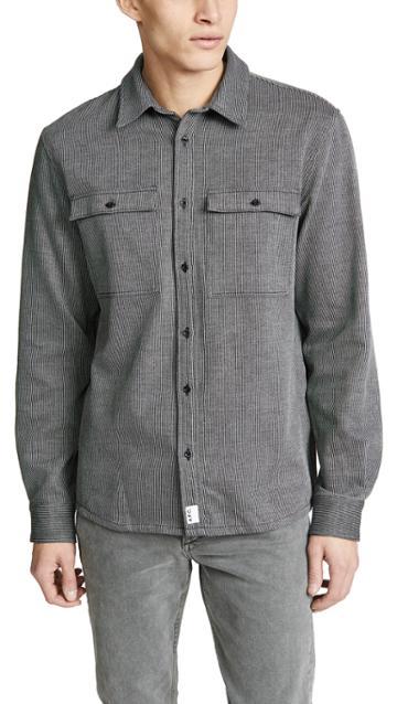 A P C Long Sleeve Button Up Shirt