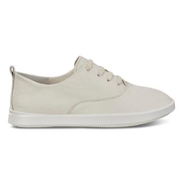 Ecco Leisure Tie Sneakers Size 4-4.5 Shadow White