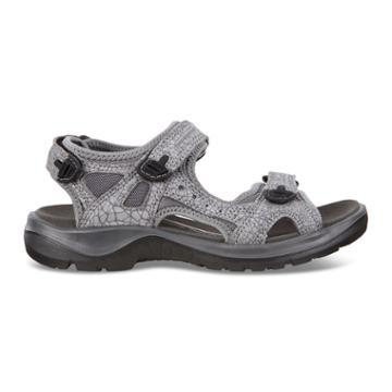 Ecco Womens Yucatan Sandal Size 4-4.5 Titanium