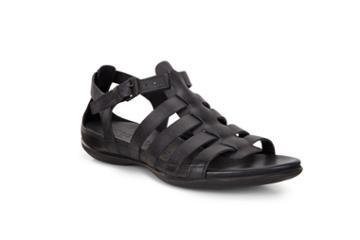 Ecco Flash Flat Sandal Size 5-5.5 Black