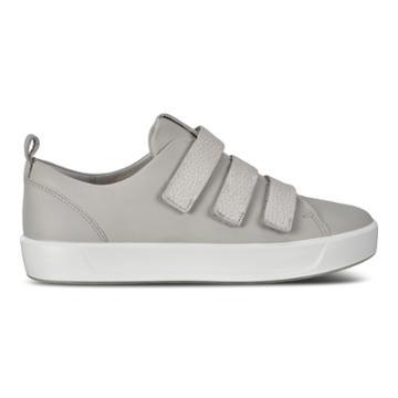 Ecco Womens Soft 8 3 Strap Sneakers Size 5-5.5 Concrete