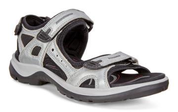 Ecco Womens Yucatan Sandal Size 4-4.5 Concrete