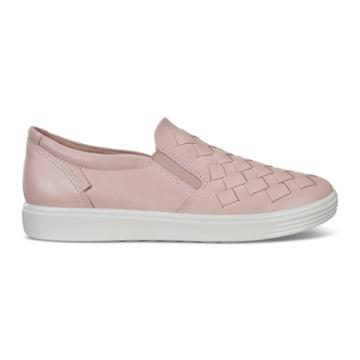 Ecco Womens Soft 7 Woven Sneakers Size 6-6.5 Rose Dust