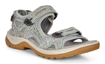 Ecco Womens Yucatan Sandal Size 4-4.5 Ice Flower