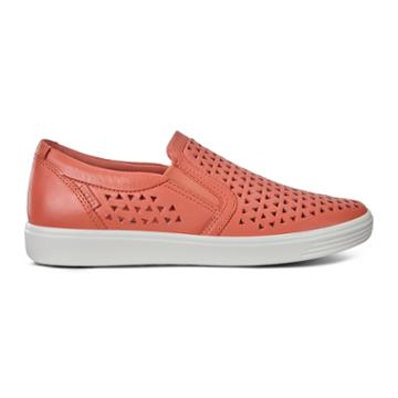 Ecco Soft 7 W Slip-on Sneakers Size 4-4.5 Apricot