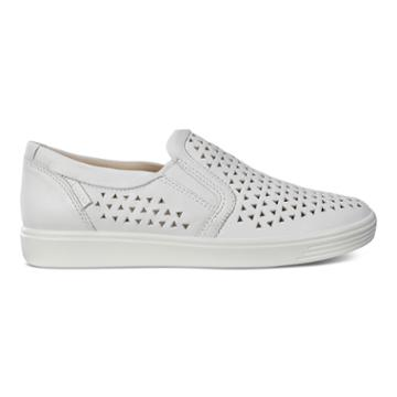 Ecco Soft 7 W Slip-on Sneakers Size 7-7.5 White