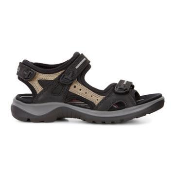 Ecco Womens Yucatan Sandal Size 4-4.5 Black