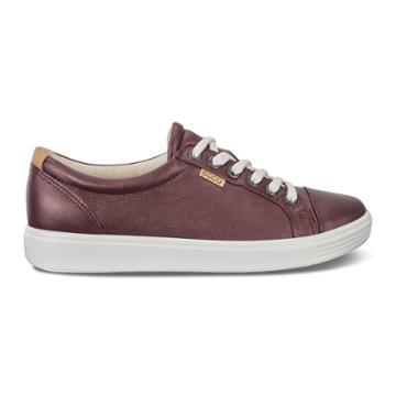 Ecco Womens Soft 7 Sneaker Size 6-6.5 Fig Metallic