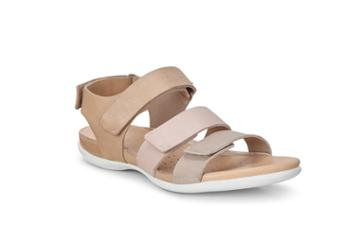 Ecco Flash Flat Sandal Size 4-4.5 Dune