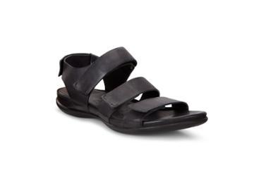 Ecco Flash Flat Sandal Size 4-4.5 Black