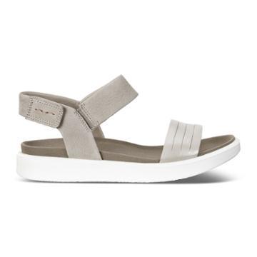 Ecco Flowt W Flat Sandal Size 8-8.5 Moon Rock Silver