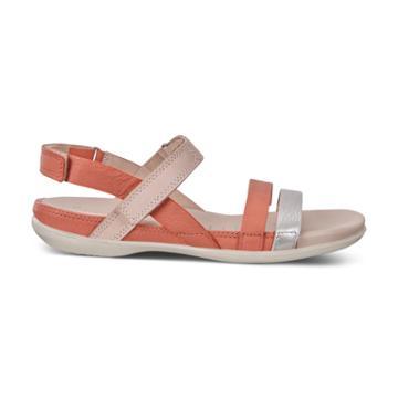Ecco Flash Alu Sandals Size 5-5.5 Silver Apricot