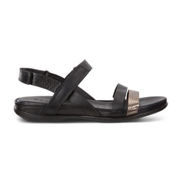 Ecco Flash Alu Sandals Size 6-6.5 Metallic Black