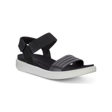Ecco Flowt W Flat Sandal Size 6-6.5 Black