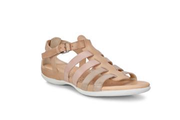 Ecco Flash Flat Sandal Size 4-4.5 Powder