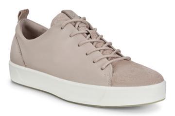 Ecco Womens Soft 8 Sneaker Size 4-4.5 Grey Rose