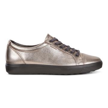 Ecco Womens Soft 7 Sneaker Size 4-4.5 Warm Grey