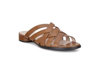 Ecco W Flat Sandal Flat Sandal Size 5-5.5 Camel