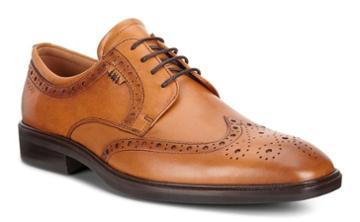 Ecco Men's Illinois Wing Tip Tie Shoes Size 6/6.5