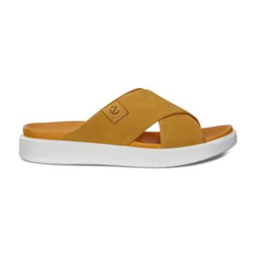 Ecco Flowt Lx W Slide Sandals Size 6-6.5 Oak