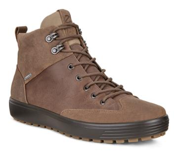 Ecco Mens Soft 7 Tred Gtx High Boots Size 6-6.5 Cocoa Brown