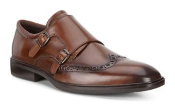 Ecco Men's Illinois Monk Strap Shoes Size 6/6.5