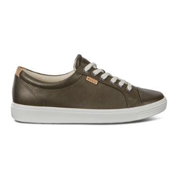 Ecco Womens Soft 7 Sneaker Size 4-4.5 Deep Forest Metallic