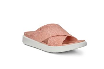 Ecco Flowt Lx W Slide Sandals Size 4-4.5 Muted Clay Rosato