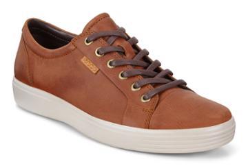 Ecco Soft 7 M Sneakers Size 5-5.5 Cognac