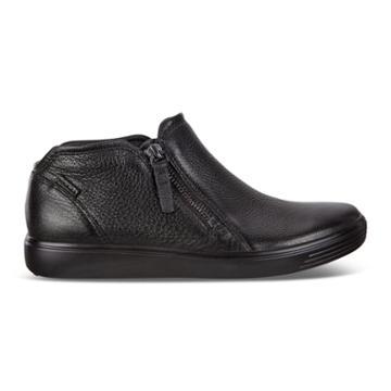 Ecco Womens Soft 7 Low Bootie Size 6-6.5 Black