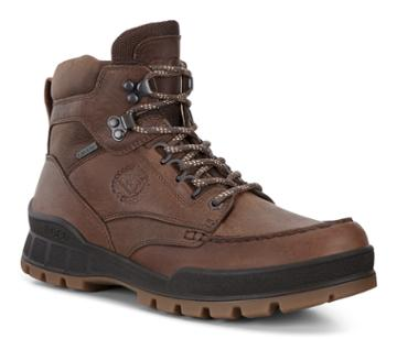 Ecco Mens Track 25 Moc High Boots Size 7-7.5 Cocoa Brown