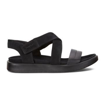 Ecco Flowt W Sandals Size 7-7.5 Black