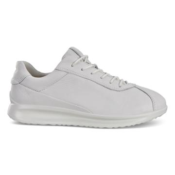 Ecco Womens Aquet Lace Sneakers Size 4-4.5 White