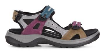 Ecco Offroad Flat Sandal Size 4-4.5 Petrol