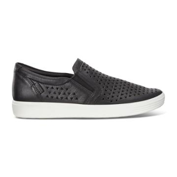 Ecco Soft 7 W Slip-on Sneakers Size 4-4.5 Black