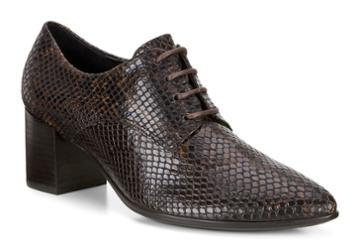 Ecco Women's Shape 45 Block Heel Tie Shoes Size 5/5.5