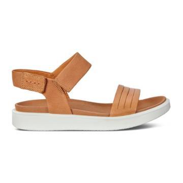 Ecco Flowt W Flat Sandal Size 9-9.5 Lion