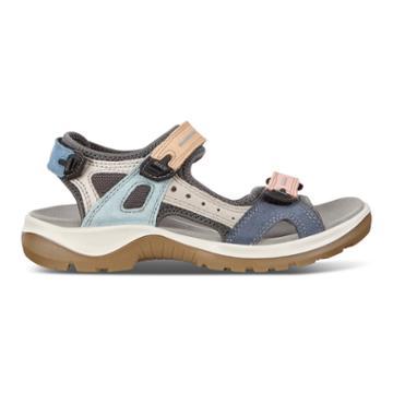 Ecco Offroad Flat Sandal Size 4-4.5 Multicolor