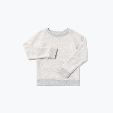 The Everlane Mini Crew Sweatshirt - Light Grey Marl