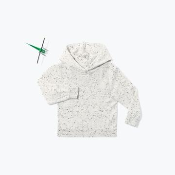 The Everlane Mini: Cashmere Hoodie- Black/light Grey Donegal