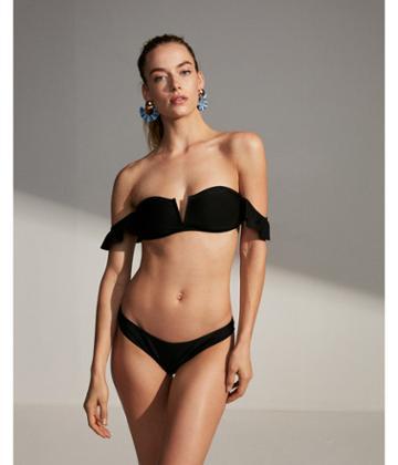 Express Womens Off The Shoulder V-wire Bikini