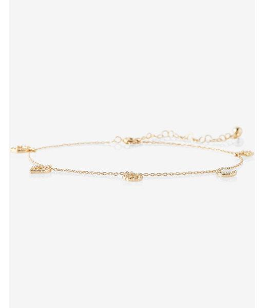 Express Mixed Stone Charm Anklet