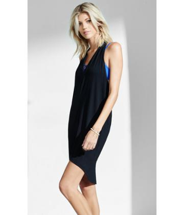 Express Women's Tanks Draped Racerback Tank Dress