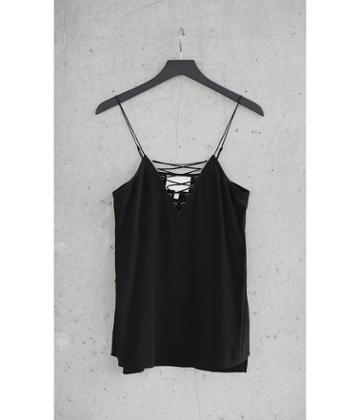 Express Women's Camis Black Silk Express Edition