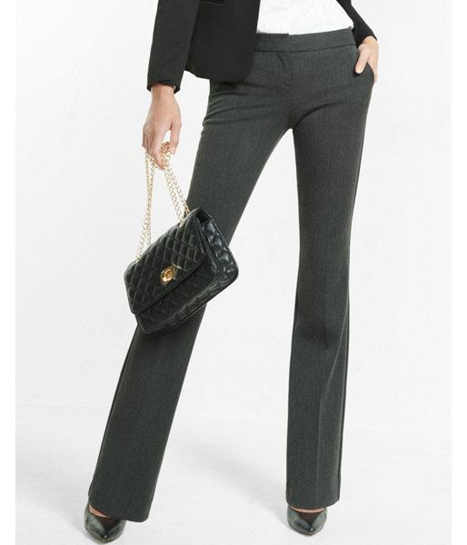 Express Womens Low Rise Slim Flare Columnist Pant